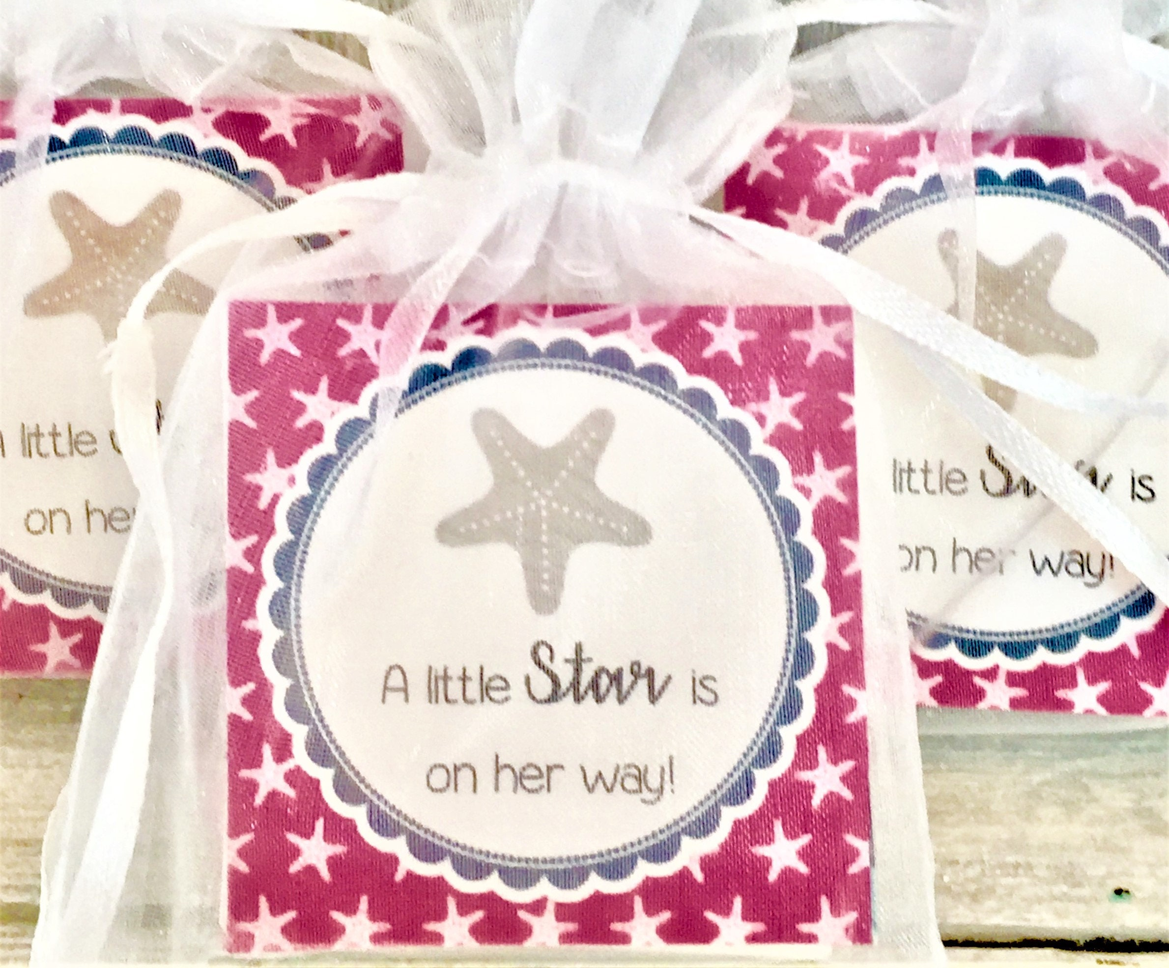 Starfish Soap Favors: Baby Shower Favors Birthday Favors