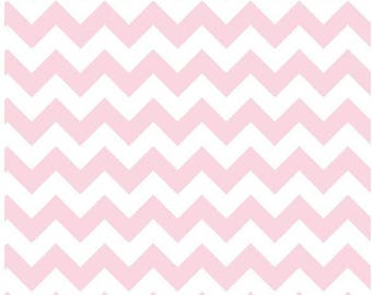 Baby Pink Chevron Fabric - Small Chevron- c340 75 Baby Pink Fabric- Riley Blake Basics Cotton Chevron Fabric- Quilting Cotton Printed Fabric