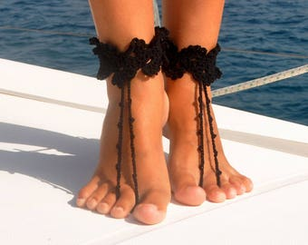 Footless Sandals Barefoot Sandals Boho Jewelry Summer Gift for Her Footless Shoes Bridesmaid Gift Ideas Girlfriend Gift Foot Jewelry