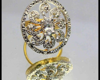 36.00Ct Certified US Size-6.5 Impressive White Zircon Ring Gems 925 Sterling Silver AU3547
