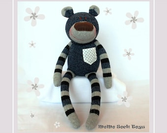 Handmade Bear Boy Sock Plush Toy