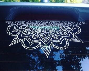 Mandala Car Decal Mandala Sticker Yoga Decal Boho Decor Flower Decal Mandala Car Sticker Pretty Decal Mirror sticker wall decal vinyl decal
