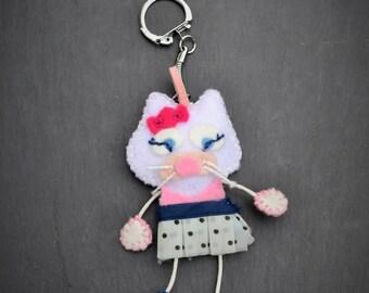 "Keychain cat ""Cat Olin"" the flirtatious doe eyed"