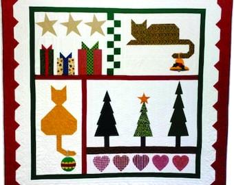 Christmas Cat Sampler Quilt Pattern (PDF)
