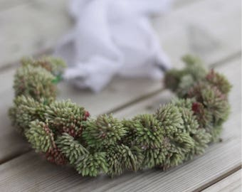 Forest crown, newborn to adult size, mummy and me headband, newborn photo props, sitter photo props, flower crown, girl wreath, forest halo