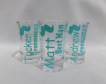 Personalized Shot Glasses, Bachelorette Shot Glass, Spring Break, Wedding Shot Glass, Bridal Party Gift, Bridesmaid, Wedding Favor
