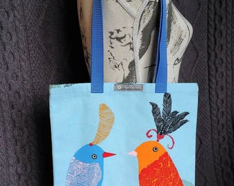 """Tote bag or Tote pattern """"birds"""""""