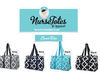 Clover Tote Bags-Nurse Purse-Nurse Tote-Nurse Gift-Graduate Gift-Personalized Monograms