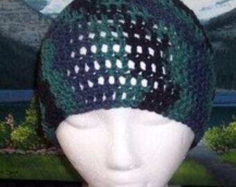 Sca 021 Hand crochet adult cotton chemo cap
