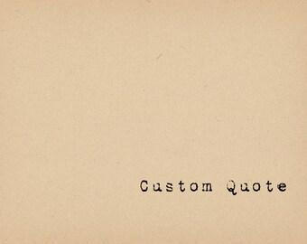 Custom Quote Art Print - Book Lover Art - Literary Art Print - Giclee Book Art - Inspirational Quote