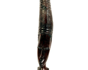 Hand Carved Ebony African Statue