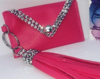 Key chain pouch with tassel