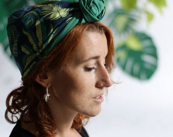 Headwrap jungle fabric