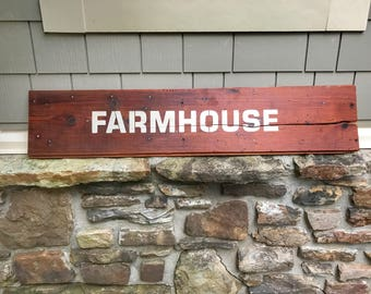Rustic Farmhouse Shiplap Sign ~ wood sign ~ rustic wood signs ~ rustic wall decor ~ shabby chic decor ~ farmhouse decor ~ wall decor