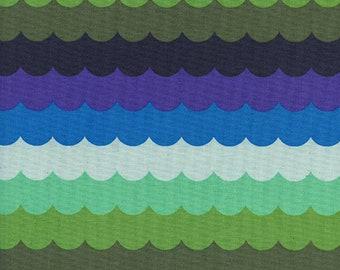 Cotton + Steel Panorama Ocean - scallops - landscape - 50cm