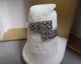 Sterling Silver Ring Size 6 3/4 Marcasite Marked 925 China