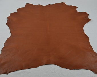Tobacco goatskin leather