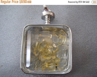 ON SALE 20% OFF Citrine Shaker Silver Plated Pendant 1pc