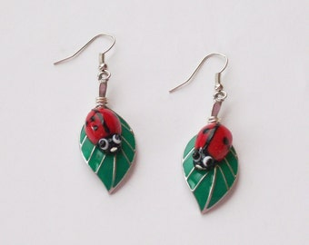 LADYBUG EARRINGS -Spring Garden Collection - Jewelry