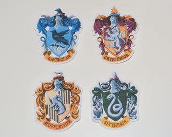 Drawn Harry Potter House Vinyl Stickers | Gryffindor | Slytherin | Hufflepuff | Ravensclaw | Pick 1