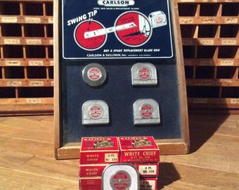 Vintage Carlson White Chief Tape Measure-New Old Stock