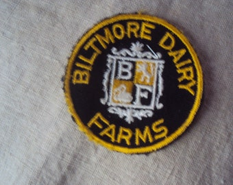 vintage 60s Biltmore Dairy Farms Sew On Patch
