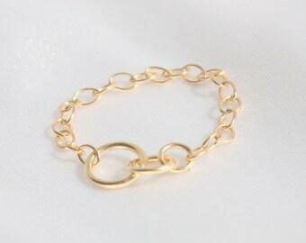 Interlocking Circle Ring  / Gold filled  / Sterling Silver / Rose Gold