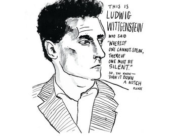 Ludwig Wittgenstein poster print Famous Philosopher