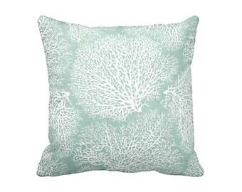 Green Throw Pillow Cover Sea Foam Pillows Sage Green Pillows Nautical Pillows Beach Decor Coral Pillows Decorative Pillows Nautical Decor