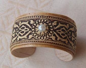 Birch bark bracelet.