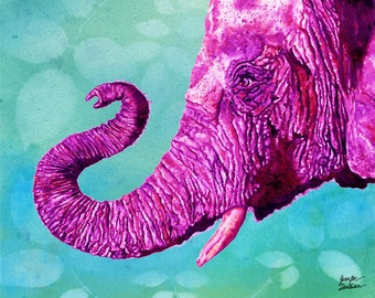 Art Print. Elephant Cyril. Candy Colored Edition