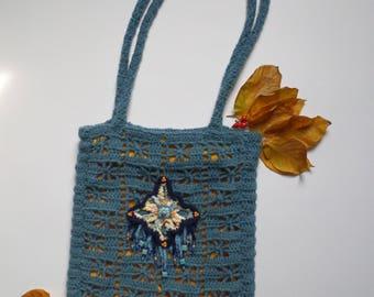 Bohemian Bag. Hippie Bag, Crochet Bag, Gift For Friend, OOAK Bag
