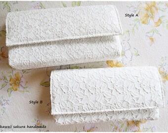 Sale White Ivory Clutch Purse, Lace Clutch, Bridesmaids Clutch Purse, Evening Purse, wedding bridal gift