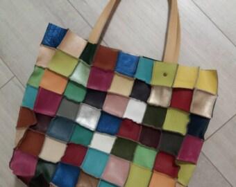 Shopper bag made by pieces