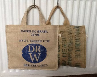 Coffee Bean sack tote bags