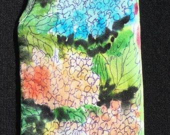 Hand Painted Silk Hydrangea Eye Glass Case