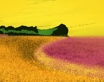 Abstract Budleigh Salterton - Limited Edition - Digital Print