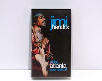Jimi Hendrix Vintage VHS Tape At The Atlanta Pop Festival July 4, 1970 BMG HiFi Stereo 1992 60 Minutes Live Concert Footage Byron Georgia