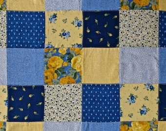 """Vintage Patchwork pieced fabric 2 yards long by 44"""" wide"""