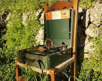 Gramophone Triumphon portátil vintage