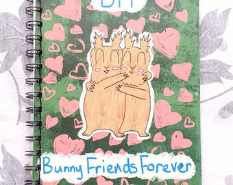 BFF (Bunny Friends Forever) A5 notebook