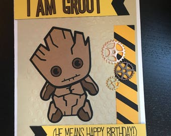 Groot Birthday Card