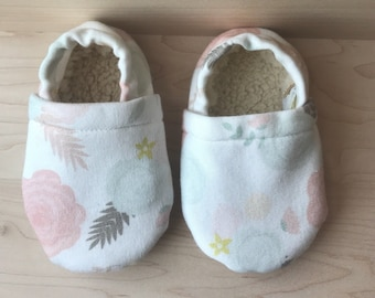 Floral baby moccasins