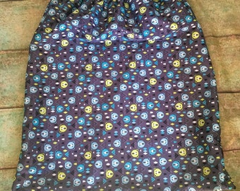 Boys bear pail liner/ wet bag for cloth diapers- FREE SHIPPING