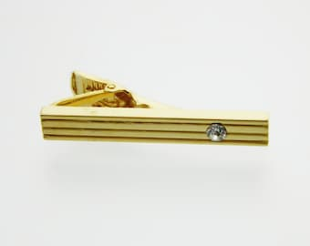 Pinstripes Gold Tie Clip