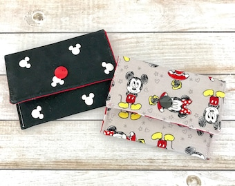 Mickey Mouse Minnie Mouse Wallet, Disney Pass Holder, Card Wallet, Key To The World Wallet, Travel Wallet, Disney Cruise Wallet