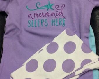 A Mermaid Sleeps Here Pajamas