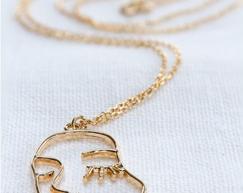 Face face MINA gold plated necklace