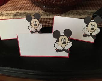12 Mickey Mouse Tent Cards