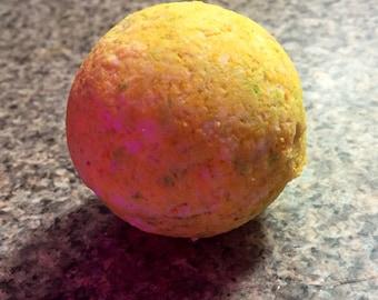 Homemade Lemongrass bath bomb